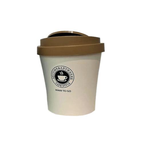 פח בצורת כוס קפה TA גדול חום
